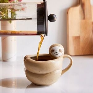 Urban Outfitters Sloth Shaped Mug